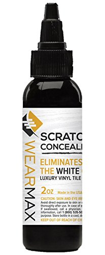 WearMax Scratch Concealer for Luxury Vinyl Tile (LVT) Flooring - Scratch Repair Touch-up & Remover - Eliminate White Lines from LVT - Scratch To How Repair
