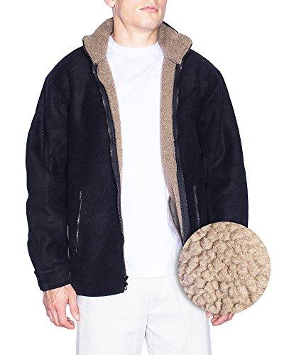 Shaggy Lined Hoody (Maxxsel Mens Sherpa Lined Polar Zip Up Heavy Fleece Jacket (XX-Large, Black))