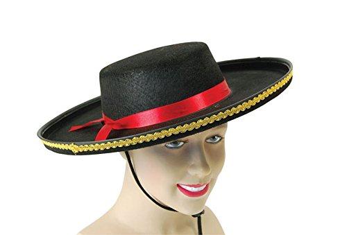 Bristol Novelty BH514 Spanish Felt Hat, Black, One -