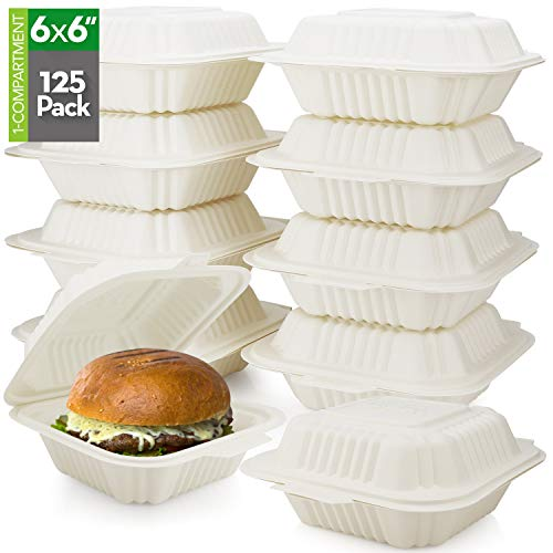 HeloGreen [125 Count] Eco Friendly Take Out Food