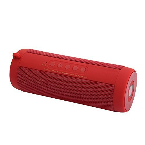 UEB HQ BT Waterproof Wireless Bluetooth Speaker with Flashlight, TF card play-only support music FAT32 TF Card, FM Radio, Hand Free Call for Smart Phones, Tablet and Mp3 Players, Red by UEB