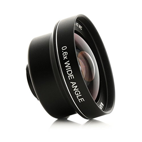 Kapkur Wide Angle Lens 0.6X HD 4K from 74° to 104° for iPhone Single & Dual Camera, iPhone 6, 6S, 6P, 6SP, 7, 8,7 P, 8 P, X