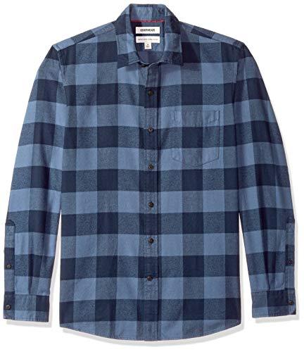 Goodthreads Men's Standard-Fit Long-Sleeve Brushed Flannel Shirt, -denim buffalo, ()