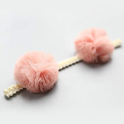 Driverder Chic e Romanzo Baby Lovely Yarn Ball Headband Hair Decoratons (Rosa)