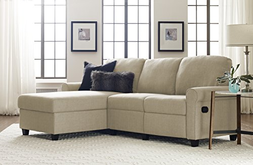Serta Copenhagen Reclining Sectional with Left Storage Chaise – Oatmeal