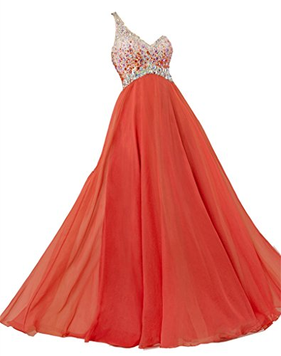 One Damen Perlen Ballkleid emmani Shoulder Chiffon Yq08RUR