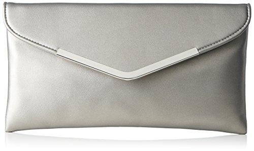 Clutch Size Macau credi One L Damen Silber silber qWz7xp1Apw