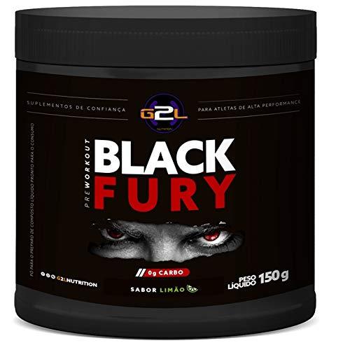 Black Fury Pre Workout 150g - G2L Nutrition - Limao
