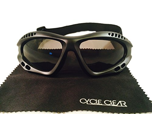Motorcycle Goggles For Men - Windproof For Tear Free Ride - ZX1 By Cycle Clear by Cycle Clear