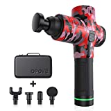 Massage Gun Muscle Neck Back Massager Deep Tissue Percussion Handheld Shoulder Massager Super Quiet Brushless Motor, opove M3 Pro Camouflage Red