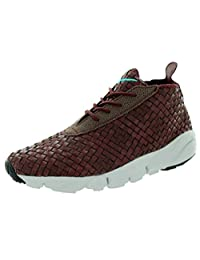 Nike Men's Air Footscape Desert Chukka Woven Leather Shoes Brown Sz 14