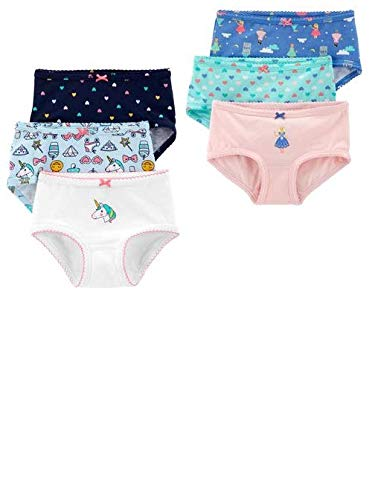 Carter's Toddler Girl's 6 Pack Colorful Underwear Panties (2-3T)