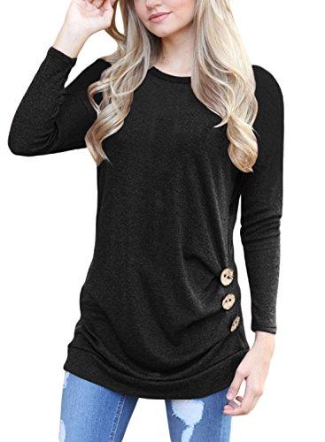 HOTAPEI Womens Sleeve Casual T Shirt