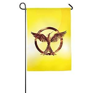 jfd el pájaro sinsajo de los Juegos del Hambre jardín bandera