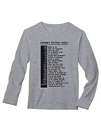 Tstars - Senior's Texting Code Funny Senior Citizen Gifts Long Sleeve T-Shirt