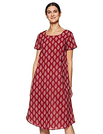 Amazon Brand - Myx Women's Cotton Night Dress