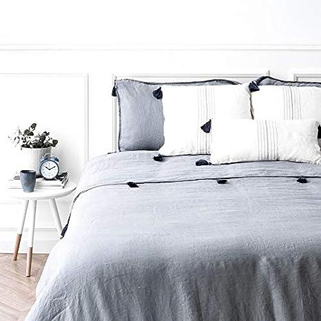Kenay Home Nórdica Azul Erin Cama 150cm + 2 Funda Cojines 50x70cm ...