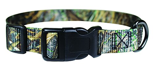 "OmniPet 5/8"" Kwik Klip Adjustable 10 to 14"" Nylon Dog Collar, Small, Duck Blinds Camouflage"