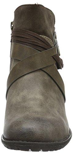 s brun 330 pour 25307 femmes peigne bottines Oliver marron rq1w0r6