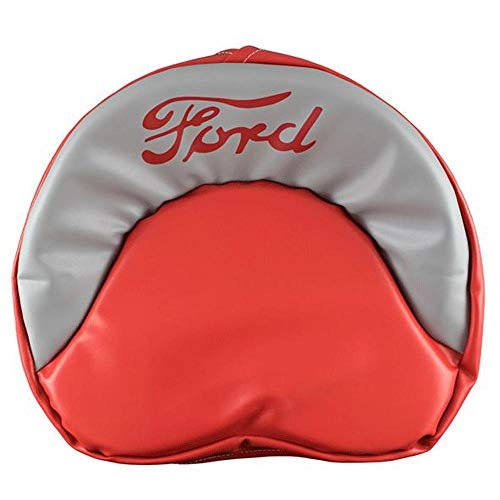 (R4536 Red & Grey Ford Tie Pan Seat Cover for Tractors 600 800 8N 2N 9N)