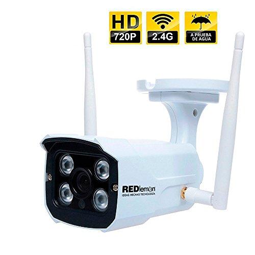 RedLemon Cámara de Seguridad para Exteriores WiFi IP, High Definition, contra Agua, Detección de Movimiento, Resolución...