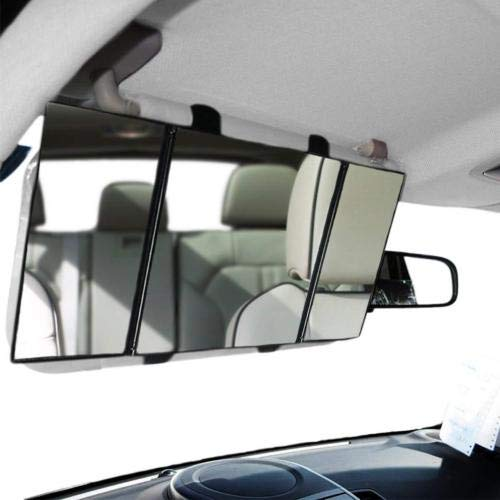TRUE LINE Automotive Car Visor Folding Vanity Mirror Makeup Cosmetic Tri-Fold Mirror