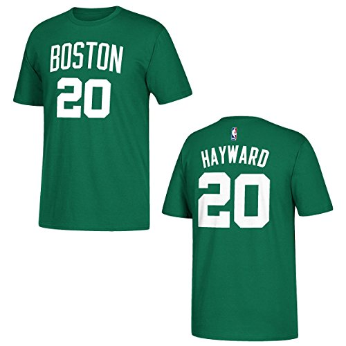 Boston Celtics Jersey Numbers - Gordon Hayward Boston Celtics Green Name and Number T-shirt X-Large