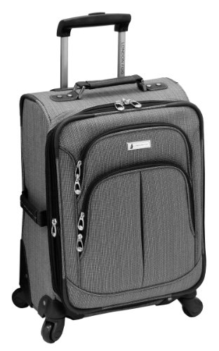 London Fog Luggage Chatham 360 Collection 20-Inch Expandable Upright, Grey, One Size