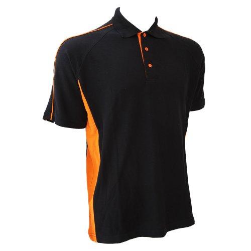 929f1759c75 Finden   Hales Mens Sports Polo T-Shirt (L) (Black Orange)