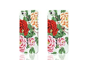 Butterfly and Bloosom Peony 3D Rough iphone 5 5S Case Skin, fashion design image custom iPhone 5 5s , durable iphone 5 5S hard 3D case cover for iphone 5 5S, Case New Design By Codystore