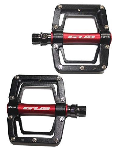 (Gub Mountain Bike Pedals Platform MTB Rode Bicycle Sealed Bearing Alloy Flat Pedals 9/16