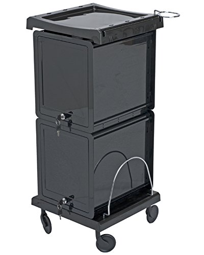 Salon Utility Cart with Lockable Doors