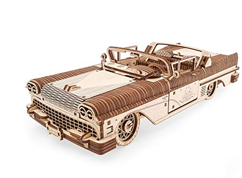 Dream Cabriolet VM-05 Mechanical Model Kit, Wooden 3D Car Puzzle for Self Assembling, Best Men Gift by Ugears