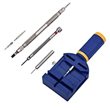 Zeiger Professional Watch Repair Tool Kit Deluxe Set, Watch Spring Bar Link Pin Remover Replacement Sizing