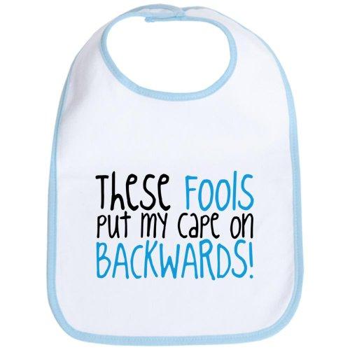 CafePress Cape Blue Bib Cute Cloth Baby Bib, Toddler Bib