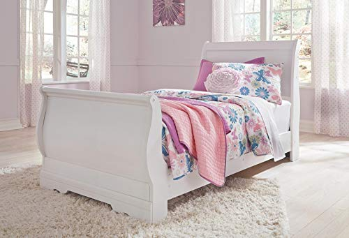 Size Headboard Twin Cherry (Signature Design by Ashley B129-63 Anarasia Twin Sleigh Headboard, White)