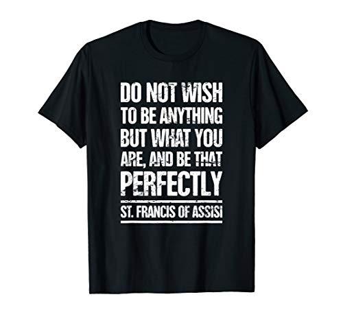 (Catholic St Francis T-Shirt / Catholicism Gift Ideas)
