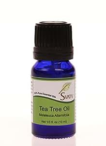 SVATV Tea Tree (Melaleuca alternifolia) Essential Oil 10 mL (1/3 oz) 100% Pure, Undiluted, Therapeutic Grade