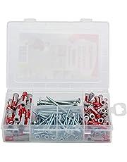 Fischer 538622 professionele box duopower en schroeven, pluggen en schroeven, set, 160 delen