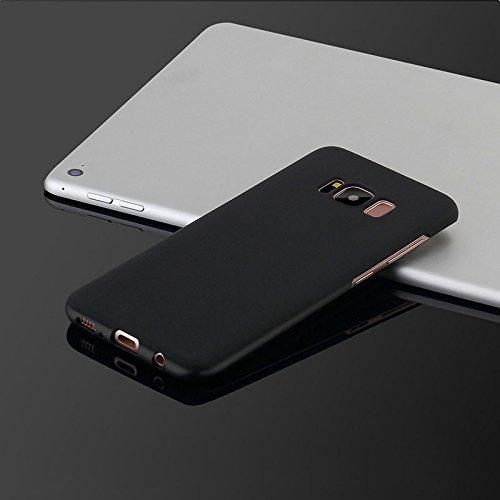 Hanbaili Caja protectora para Samsung Galaxy S8, ultra delgada cubierta de la caja Pintura helada mate, resistente a los arañazos Black