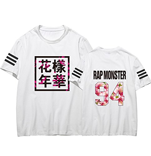 Dolpind Bangtan Boys Tshirt BTS IN Bloom T-shirt Rap Monster Suga Rap Monster Tee