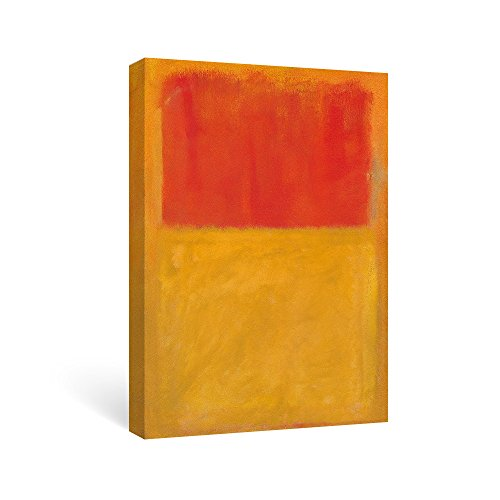 SUMGAR Abstract Canvas Wall Art Prints for Office Red and Yellow Reproduction Fine Art by Mark Rothko-Clearance Sale, 16x24