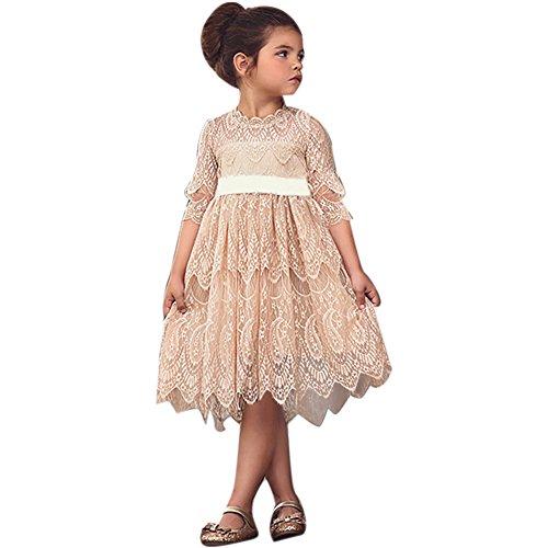 Girls Vintage Flower Country Boho Dress Rustic Long