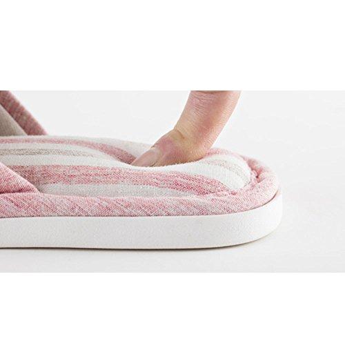 Color Tamaño color ZHIRONG Opcional Pink algodón Tamaño deslizables de Beige Zapatillas de Pareja casera 39 interior del damas 40 Modernas de Pantuflas aF4q7anwr