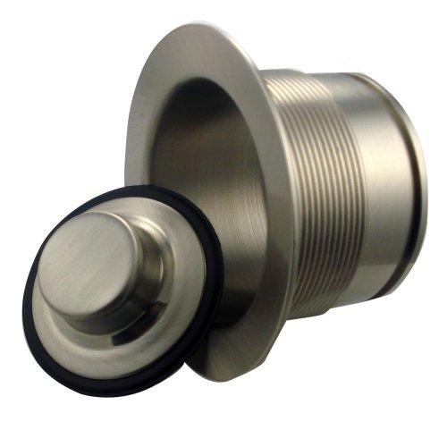 Mr. Scrappy Custom Color Brass Sink Flange/Stopper Set, Stainess Steel Brushed Nickel