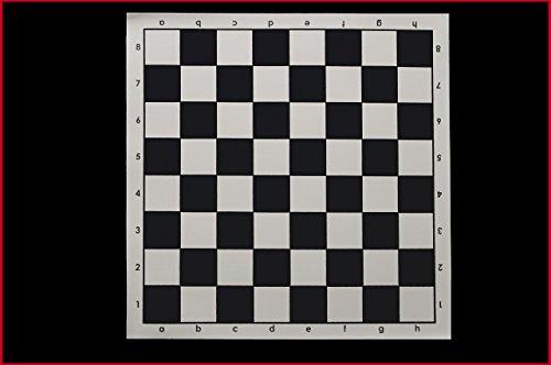 Tapis Grand échiquier vinyle souple, cases couleurs: noir et blanc, case: 5,7 cm ! Taille du tapis : 51 cm x 51 cm