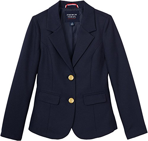(French Toast School Uniform Girls Classic School Blazer, Navy, 8)