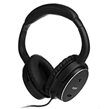 H501 Active Noise Cancelling Over-ear Headphones, Closed Back Headphones with Inline Microphone and Carrying Case, 50-hour Battery Time, Classic Design Impressive Performance (Wired)
