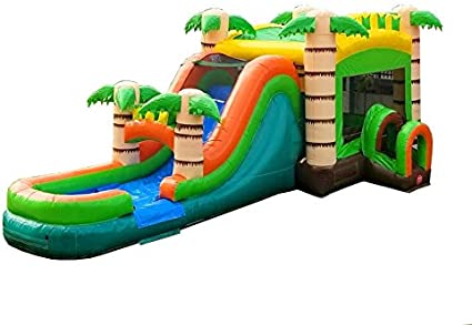 Amazon.com: TentandTable Tropical Wet Dry Mega Bounce House ...
