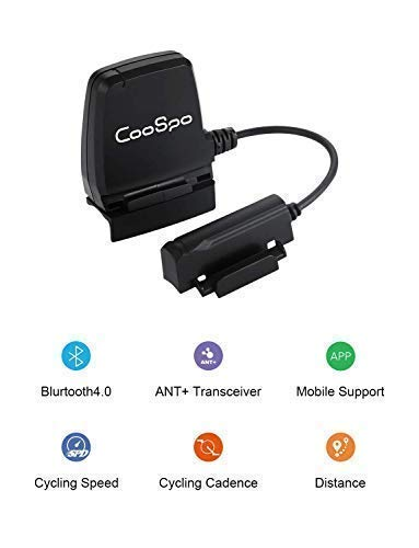 CooSpo Speed and Cadence Sensor Cycling Bike RPM Sensor Speedmeter Wireless  Bluetooth 4 0 ANT+ Waterproof Strava Zwift